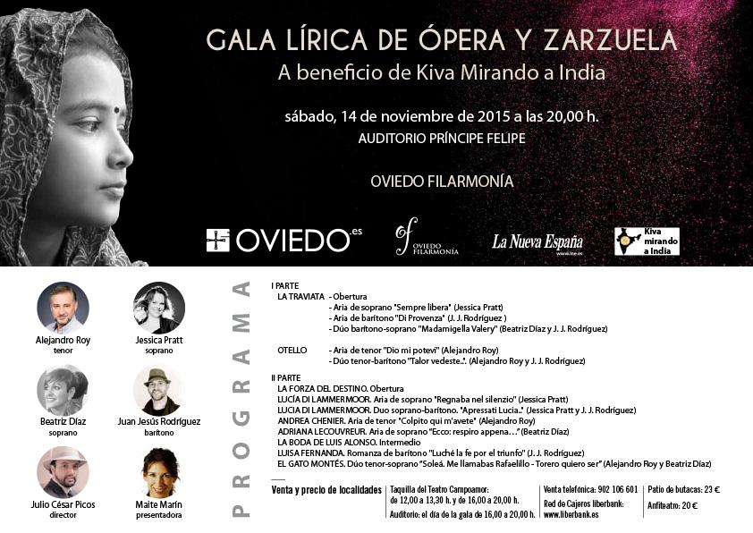 Folleto Gala Benéfica Oviedo